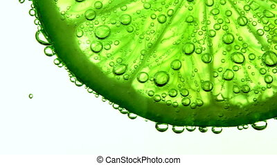 lime in water with bubbles