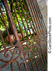 Gate - Old and rusty gate in a park
