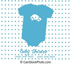 baby clothes - vector baby shower