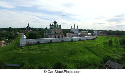 Piously-Troitsk Sergieva of Laurels Top view from height of...