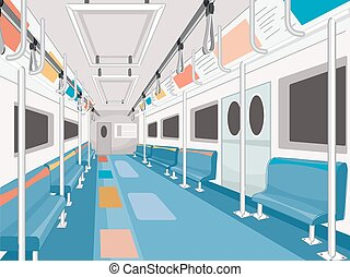 Subway Train - Illustration of a Clean and Empty Subway...