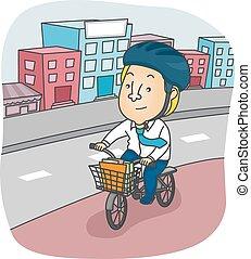 Man Bicycle Ride