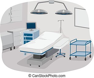 Operating Room - Illustration of an Operating Room Complete...