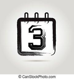 vector Calendar Icon three