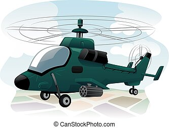 Assault Helicopter - Illustration of an Assault Helicopter...