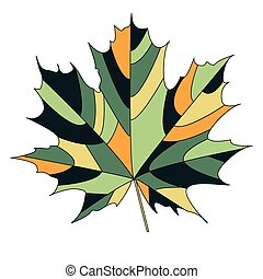maple leaf - Silhouette of the maple leaf. Vector...