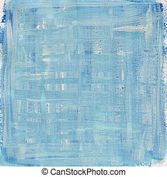 blue and white watercolor abstract with canvas texture -...