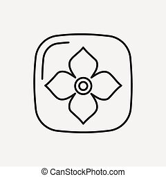 fruits Persimmon line icon