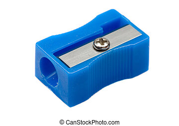 Photo of one pencil-sharpener on a over white background
