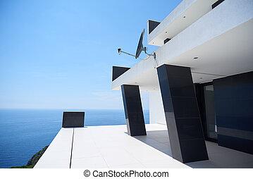 modern house - External view of a contemporary house modern...