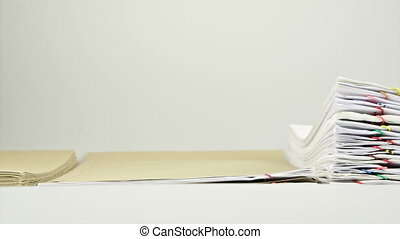 Manage paper report in envelope on