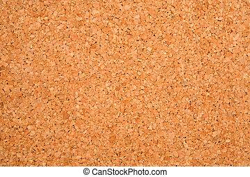 Empty cork board