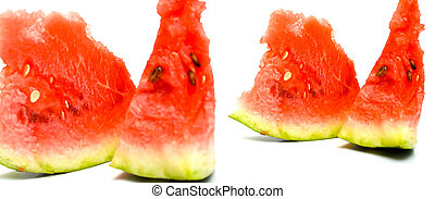 ripe watermelon - Red juicy ripe watermelon Isolation on...