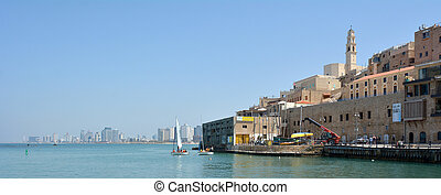 Old Jaffa city port in Tel Aviv Jaffa - Israel - Panoramic...