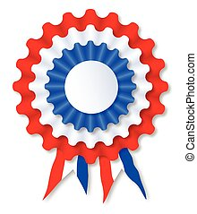 Red White and Blue Rosette - A red white and blue rosette...