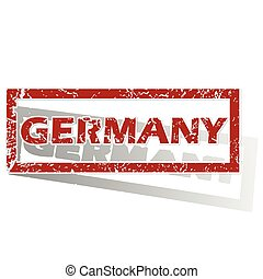 Germany outlined stamp
