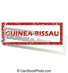 Guinea-Bissau outlined stamp - Outlined red stamp with...