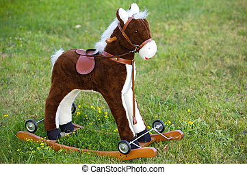 Small wooden toy horse