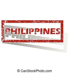 Philippines outlined stamp