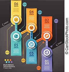 Business timeline infographic template. Vector illustration....