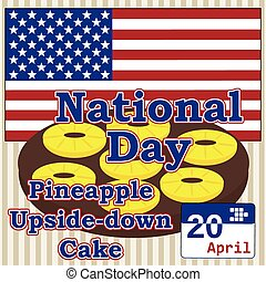 vector for national Pineapple Upside-down Cake day in usa 20...