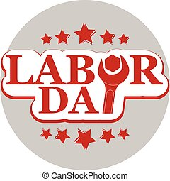 vector Workers' Day and Labor Day text with nut wrench -...