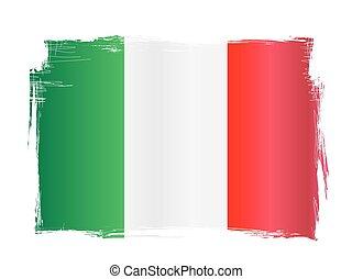 Grungy Italian Flag