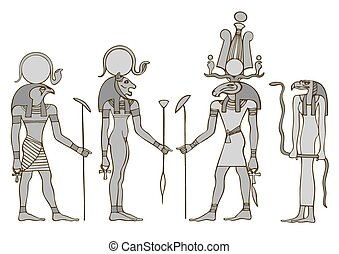 Gods of ancient Egypt - Various Egyptian Gods and Goddess:...