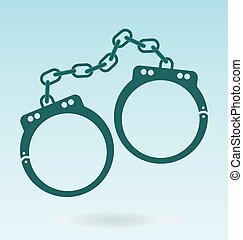 handcuffs. symbol of justice. police icon