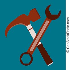 Hammer and wrench repair tools
