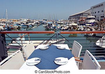 Old Jaffa city port in Tel Aviv Jaffa - Israel - Restaurant...