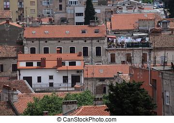 The city of Pula in Croatia