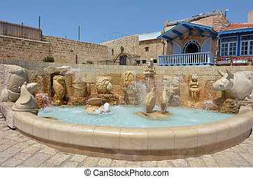 Tel Aviv Jaffa - Israel - The Zodiac Fountain in Kedumim...