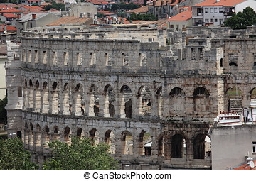 The Amphitheatre of Pula in Croatia