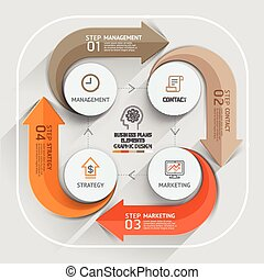 Modern arrow business plans element template. Vector...