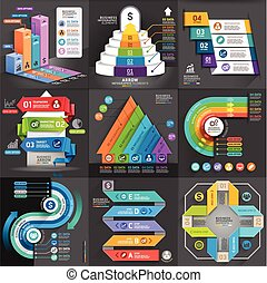 Business infographic elements template. Vector illustration....