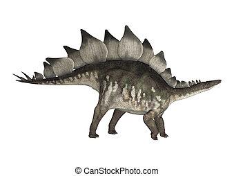 Dinosaur Stegosaurus - 3D digital render of a dinosaur...