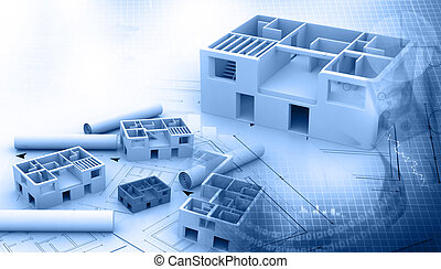 Blue print of a architectural project