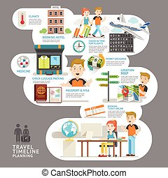 Travel timeline planning element Vector illustration Can be...
