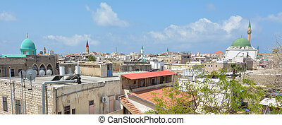 Acre Akko old city port skyline, Israel - ACRE, ISR - APR 21...