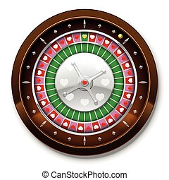 Roulette Love Wheel Hearts Game - Roulette wheel with heart...