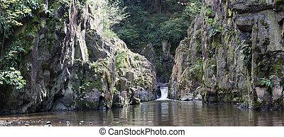 Skryje Waterfall And Pond