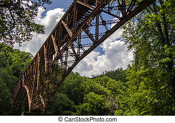 Big South Fork National Recreation - Old railroad bridge...