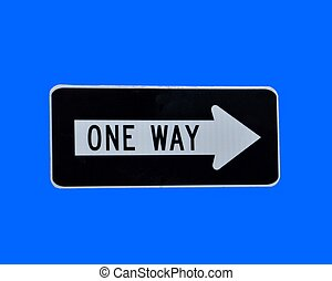 One Way Sign - One way street sign