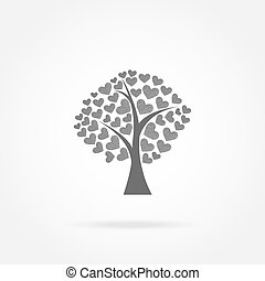 tree with hearts icon