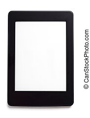 Ebook Reader - Ebook reade risolated on white background...