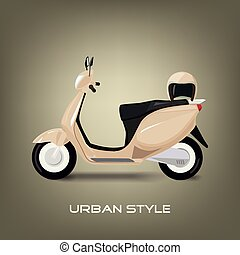 Urban style - modern scooter in a modern setting
