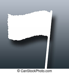 Flag - Illustration of a flag of truce on a dark background