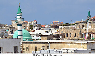 Acre Akko old city port - Israel - Urban cityscape of Acre...