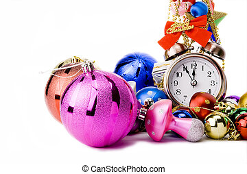 Christmas Countdown - Alarm clock and christmas decorations...